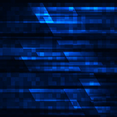 Abstract vector background with blue stripes. Vector illustration