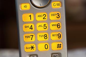 flashing telephone keypad