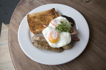 Scottish Breakfast in Cafe, Edinburgh