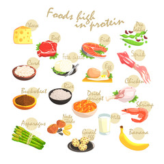 Food Rich In Proteins Poster
