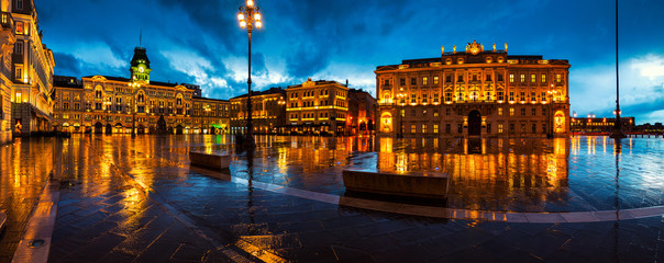 Unity of Italy Square in Trieste, Italy