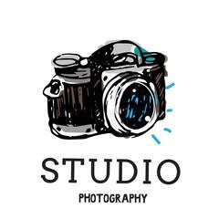 Camera photography vector illustration.