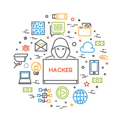 Hackers and cyber criminals online