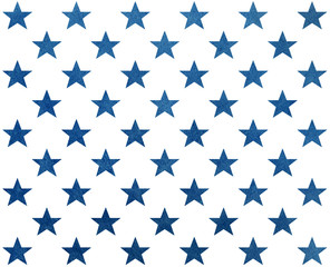 Pattern with dark blue watercolor stars.
