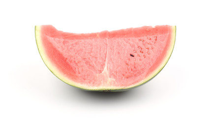 A piece of watermelon on white background