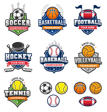 Mixed Vintage Vector Sport logos