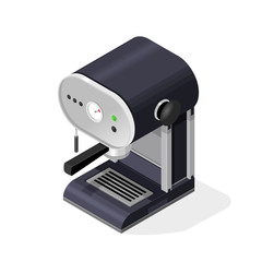 Isometric vector illustration Coffee Espresso Machine internet Icon.
