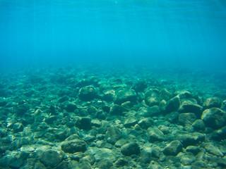 Underwater sun beams
