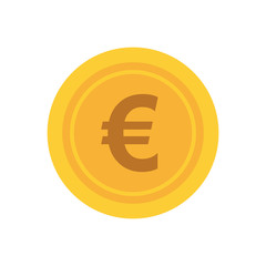 Money and financial item concept represented by coin icon. isolated and flat illustration