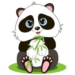 Vector image of an cartoon smiling Panda