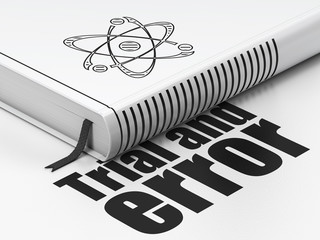 Science concept: book Molecule, Trial And Error on white background
