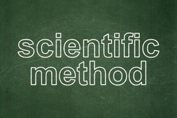 Science concept: Scientific Method on chalkboard background