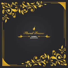 luxury floral frame card