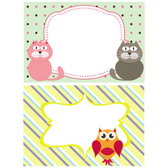 frame with animals vector