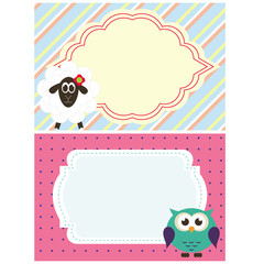 funny frame with animals vector