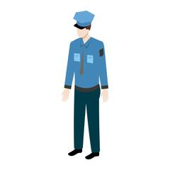 Isometric policeman icon