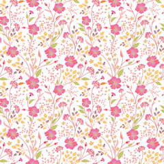 vector seamless cute little flower pattern.