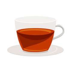 Cup of tea icon, cartoon style