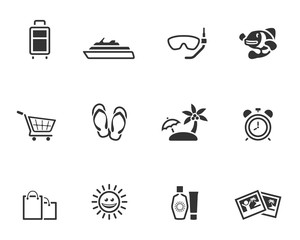 Single Color Icons - More Travel