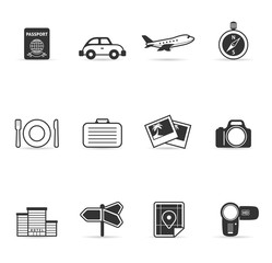 Single Color Icons - Travel