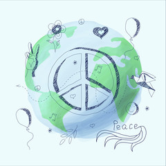 Vector illustration symbol of peace