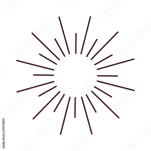 Abstract sun lines shine circle and sun lines decorations ray. Sun ...