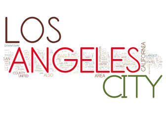 City of Los Angele collage of word concepts