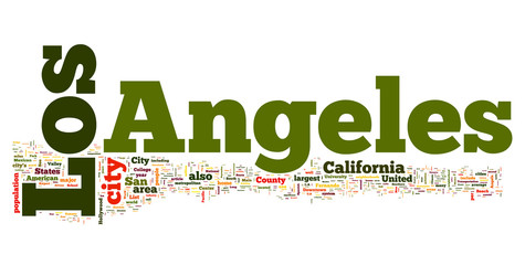 Los Angeles collage of word concepts