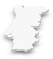 Map - Portugal - 3D-Illustration