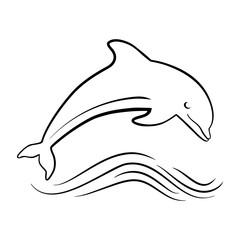 outline of jumping dolphin