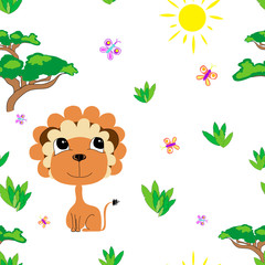 Meadow seamless pattern