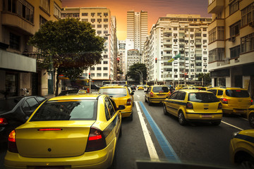 Taxi drivers in Rio