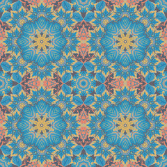 Seamless oriental ornamental pattern. Vector