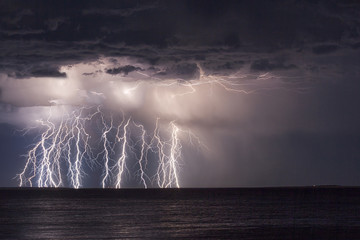 Strik'n Night/As the Lightning heads back out to sea, striking like I want to see it!