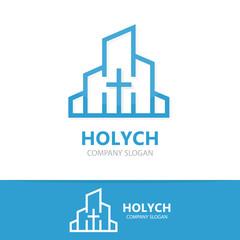 Vector church logo design.