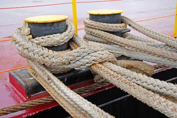 Anchor ropes at Ravenna Harbor.