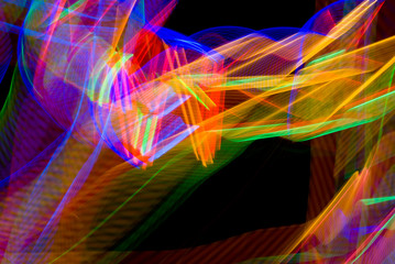 Blue and green light in motion abstract