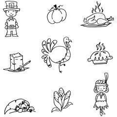 Element Thanksgiving in doodle
