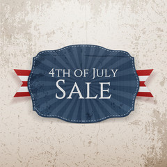 Fourth of July Sale Holiday Emblem