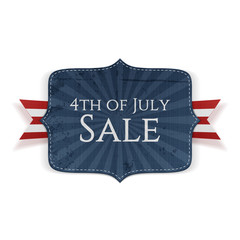 Fourth of July Sale realistic Banner