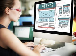 Webinar Computer Education Learning Technology Concept
