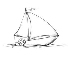Einfaches kleines Segelboot