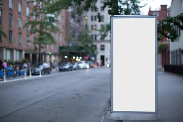 Blank advertising billboard in New York