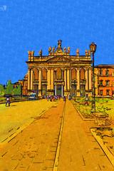 Rome Italy art illustration
