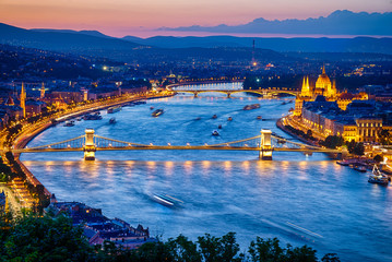 Printed kitchen splashbacks Budapest View of Budapest City