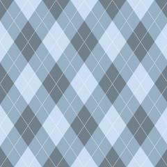 Seamless argyle pattern. Diamond shapes background.