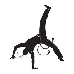 capoeira dancer silhouette