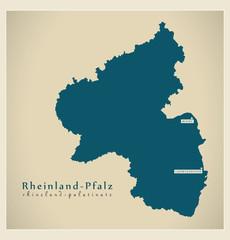 Modern Map - Rheinland-Pfalz DE new design refreshed