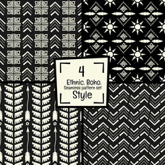 Seamless abstract vector pattern  texture in black and white background