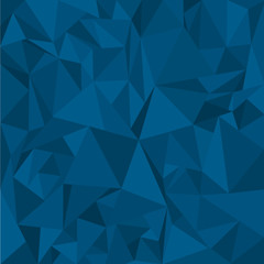 Blue Polygonal Mosaic Background for Design Template